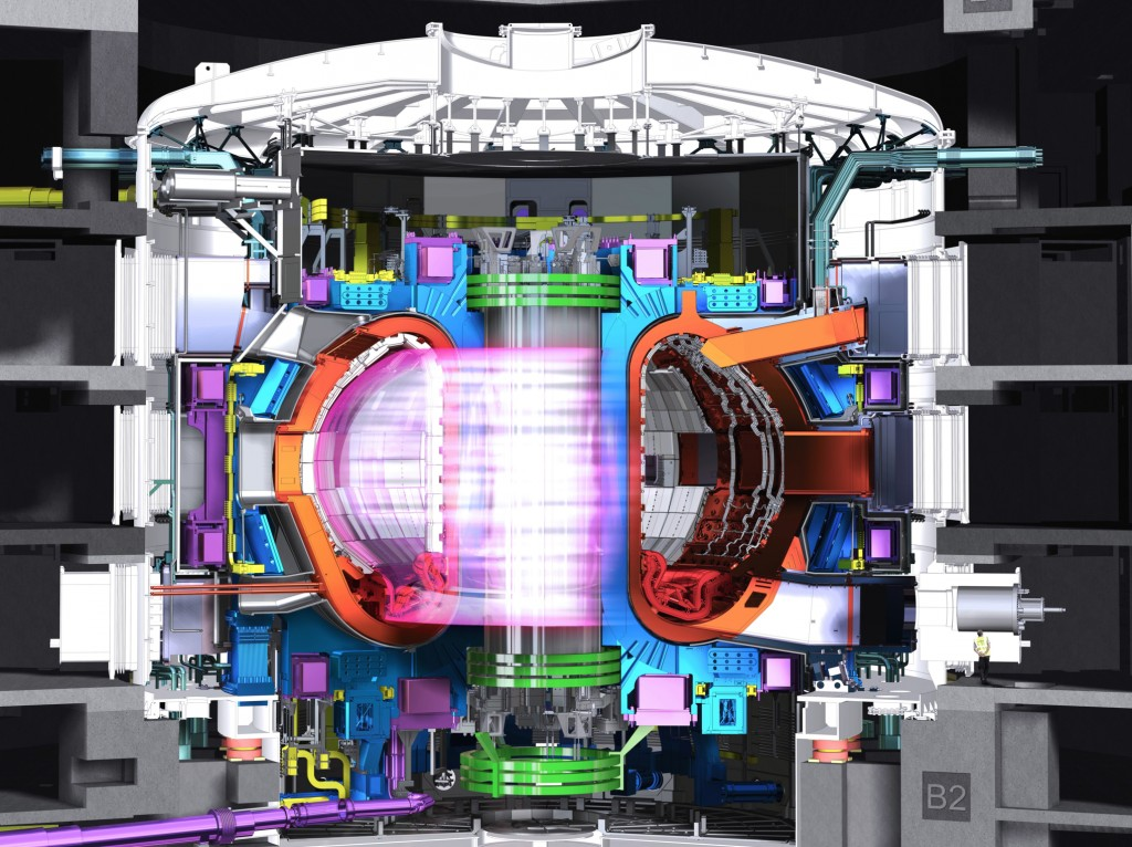 Здание токамака (фактически, термоядерного реактора) — размерами 120х90 метров, высотой в семь этажей, весом в 300 тысяч тонн, стоимостью в 250 миллионов евро, строилось семь лет / ©ITER