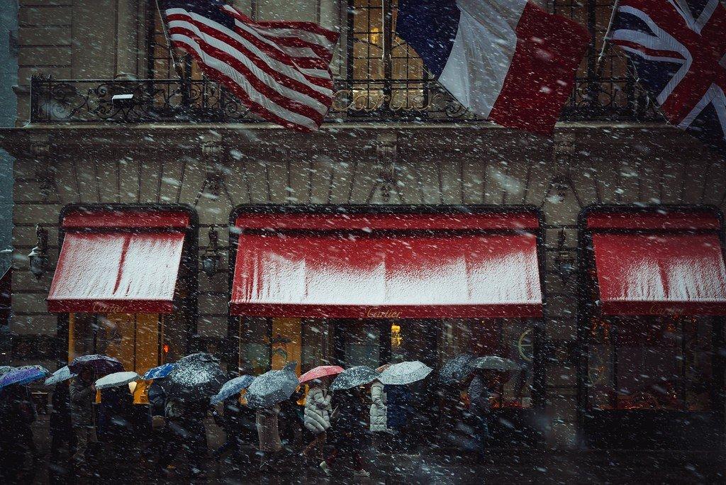 Зимний Манхэттен, Нью-Йорк. Фотограф Массимо Джакетти