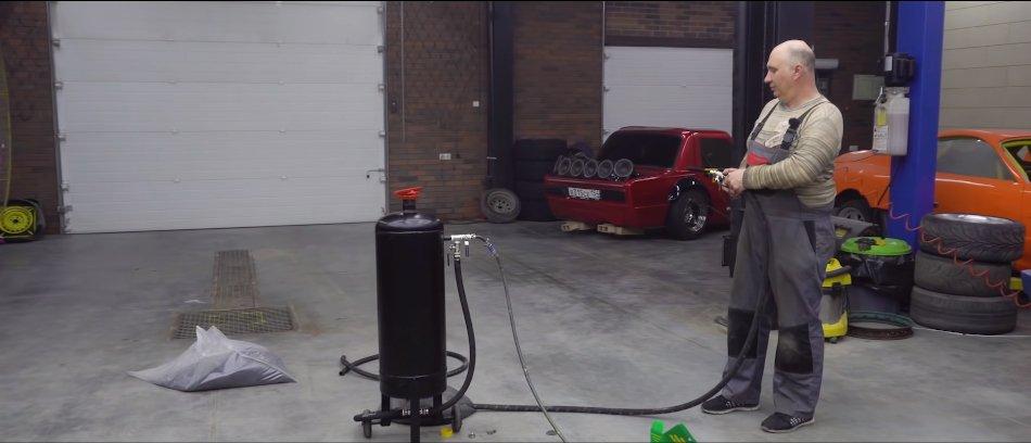 Пескоструйный аппарат своими руками! / Фото с Youtube-канала Гараж 54   Без руля