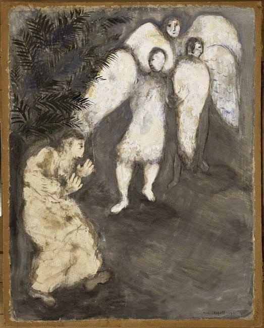 Авраам падает ниц перед тремя ангелами, 1931 г.wikiart.org