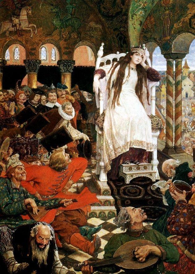 Виктор Васнецов. Царевна-Несмеяна, 1914-1916 гг.Дом-музей Васнецова, Москва