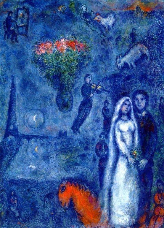 Марк Шагал. Художник и его невеста 1980 г.частное собрание wikiart.org