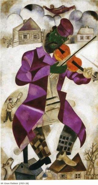 Зеленый скрипач, 1924 г.Музей Соломона Гуггенхе́йма Нью-Йорк, США