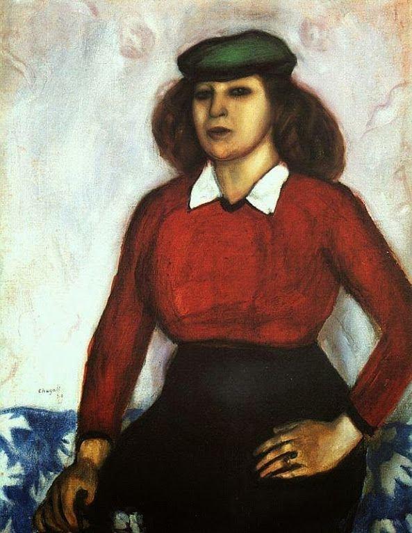 Портрет сестры художника (Анюта), 1910 г.частное собрание wikiart.org