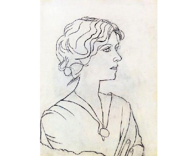 Портрет Ольги Хохловой.1920г.wikiart.org