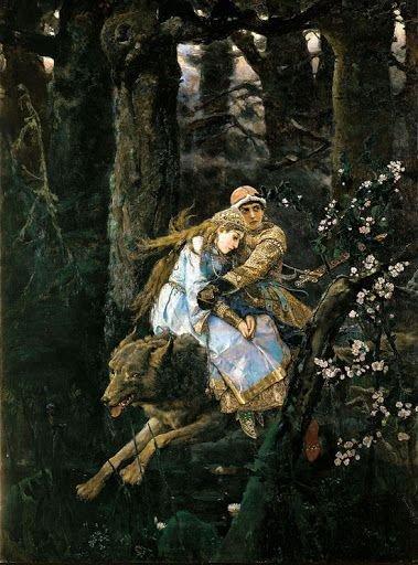 Виктор Васнецов. Иван Царевич на сером волке, 1889 г.Государственная Третьяковская галерея, Москва