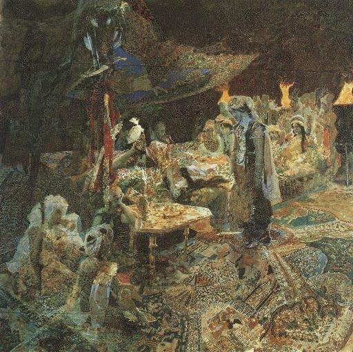 Михаил Врубель. Восточная сказка, 1886 г. Киевский национальный музей русского искусства, Киев, Украина