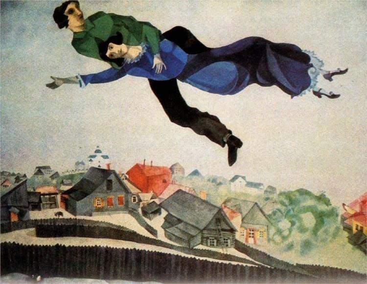 Над городом, 1918 г. Государственная Третьяковская галерея