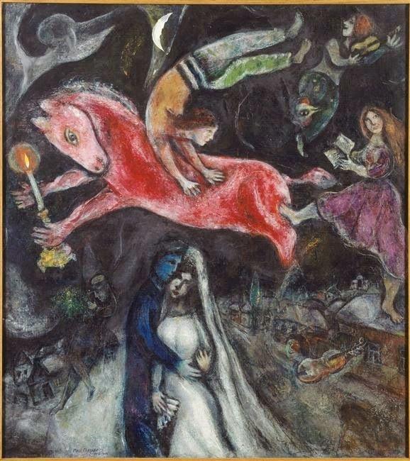Красный конь, 1938 г.Музей изящных искусств Нанта, Нант, Франция