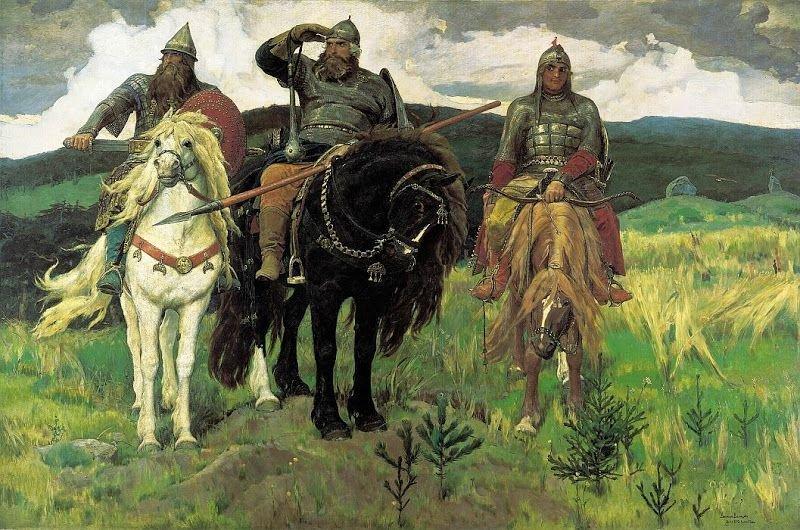 ВикторВаснецов. Три богатыря, 1898 г.Государственная Третьяковская галерея, Москва