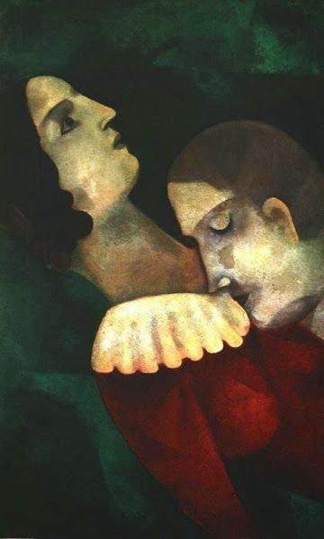 Любовники в зеленом, 1917 г.частное собрание wikiart.org