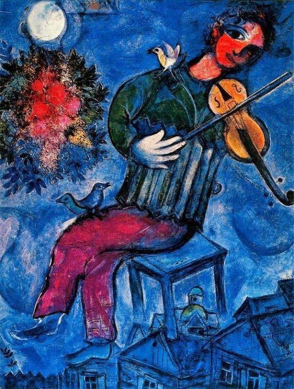 Синий скрипач, 1947 г. wikiart.org