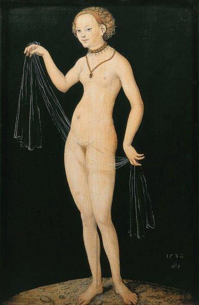 Лукас Кранах Старший. Венера с вуалью. 1532 г.