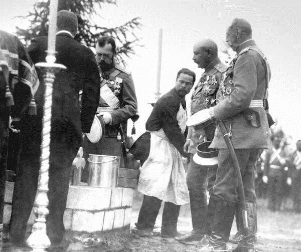 II Nikolay və Hüseyn Xan (1907)