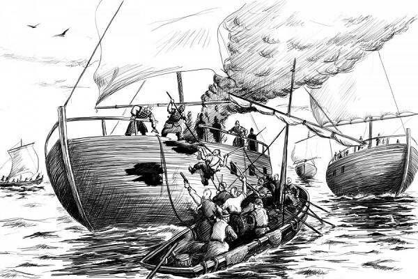 Kazaklar Fars gəmisinə hücum edir