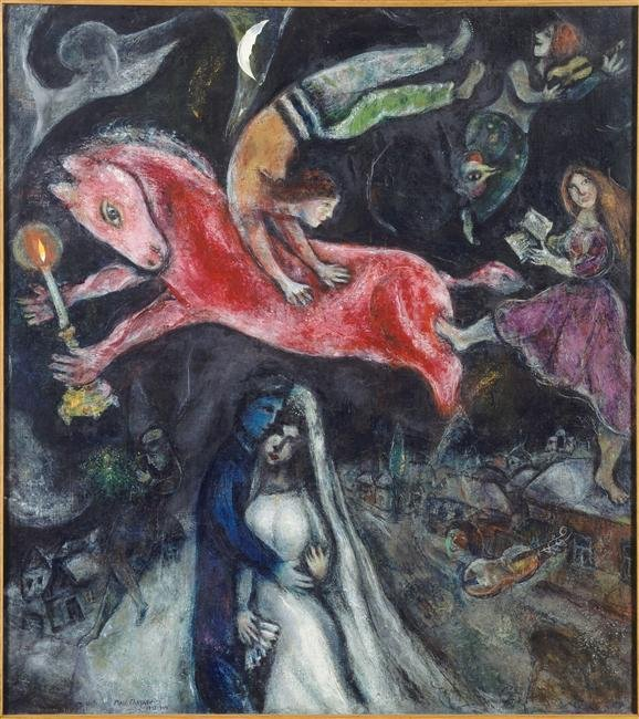 Марк Шагал. Красный конь.1938 г. Музей изящных искусств Париж, Франция