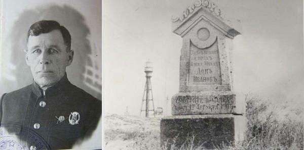 İvan Makarov və 1903-cü ildə püskürmədən ölən xadimənin abidəsi