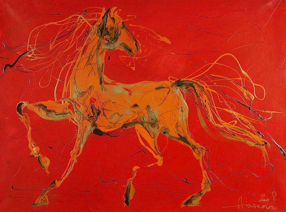 Ильяс Айдаров. Красный конь. Холст, масло. 2008 г. ryabovexpo.ru