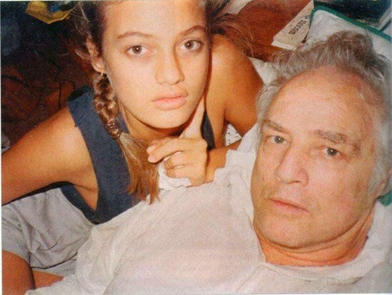 Чейнни Брандо с отцом Марлоном Брандо