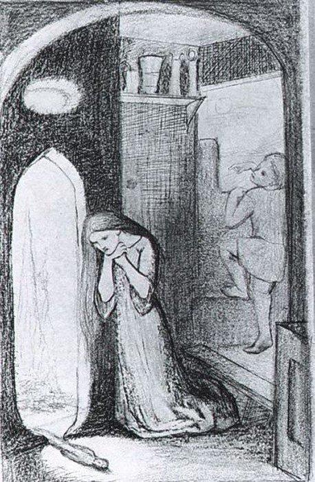 Элизабет Сиддал. Сестра Хелен. 1854 г.