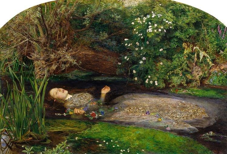 Джон Эверетт Милле.Офелия.1851–1852 гг.Британская галерея Тейт