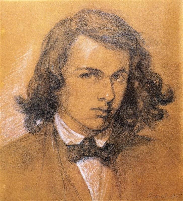 Данте Габриэль Россетти. Автопортрет. 1847 г. Национальная портретная галерея, Лондон