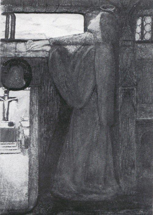 Элизабет Сиддал. Канун Святой Агнессы