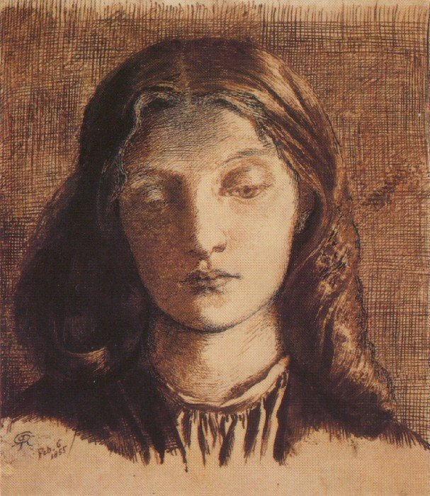 Данте Габриэль Россетти. Портрет Элизабет Сиддал. 1855 г. Музей Эшмола, Оксфорд, Великобритания
