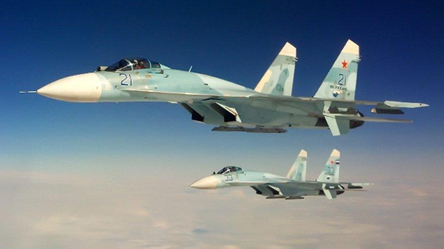 Пара истребителей Су-27. Фото: Министерство обороны Российской Федерации
