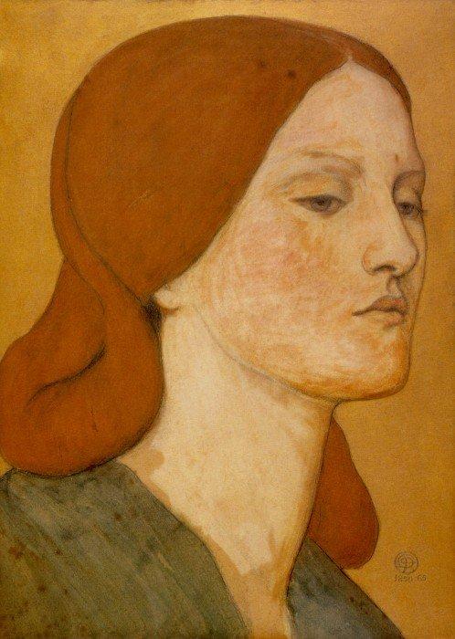 Данте Габриэль Россетти. Портрет Элизабет Сиддал. 1850–1865 гг.Музей Фицвильяма, Кембридж, Великобритания