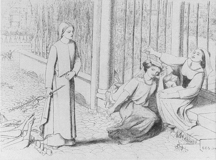 Элизабет Сиддал.Пиппа Пасса. 1854 г.