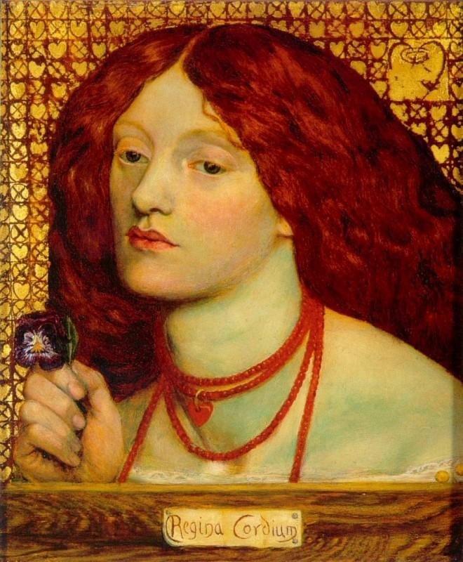 Данте Габриэль Россетти. Регина Кордиум (Королева червей). 1860 г. Собрание Художественной галереи Йоханнесбурга, ЮАР