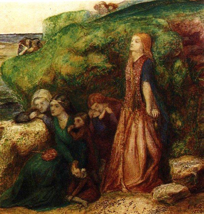 Элизабет Сиддал. Женский плач из баллады о сэре Патрике Спенсе. 1856 г.